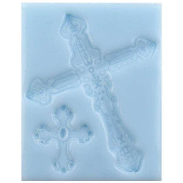 Silikonform Kreuz -2Stück 10,4 x 7,2 x 1,1 cm