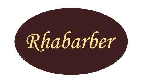 Tortendekoration Schokoladenaufleger Rhabarber