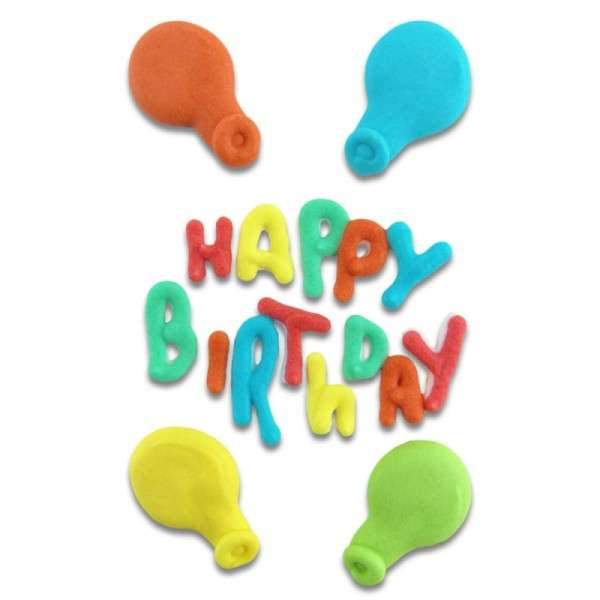 Zuckerdekoration Happy Birthday