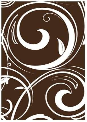Schokoladenaufleger Rechteck weiße Ranke 35x25mm 315 Stck