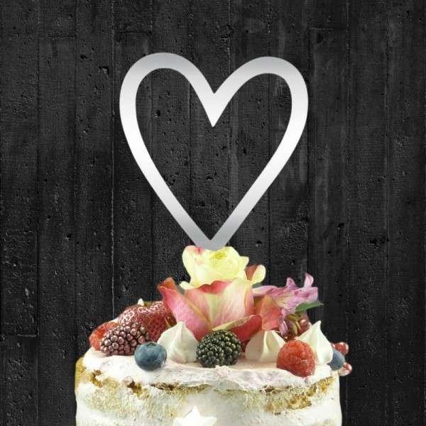 """Cake-Topper """"Herz"""" Acryl SPIEGEL"""