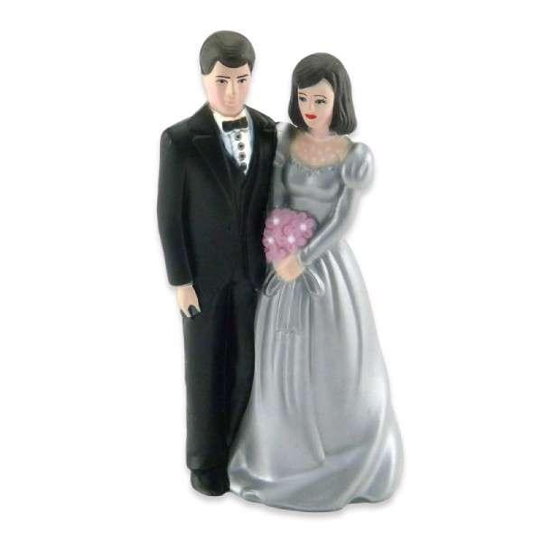 Tortendekoration Brautpaar Silberhochzeit