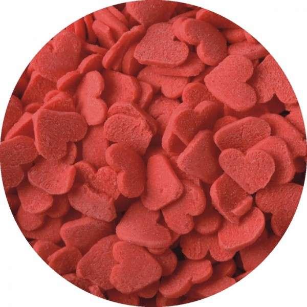 Zuckerkonfetti Herzen rot 100g