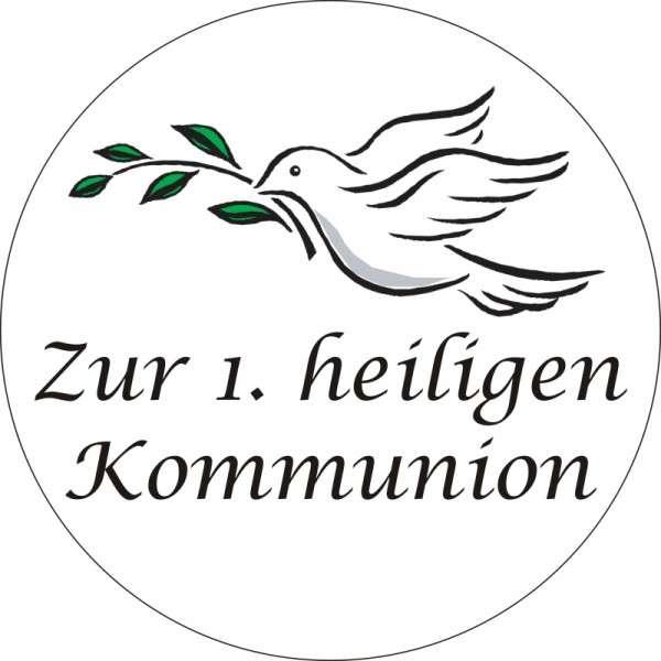"""Tortenaufleger Taube """"Zur 1. heiligen Kommunion"""" 100mm"""