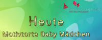 Tortendekoration Baby Mädchen