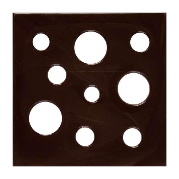 Schokoladendeko Platte mit Löchern 120x120mm 10 Stck