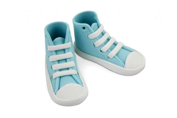 Zuckerdekoration Sneaker high, blau,1 Paar, Einzelschuh 80 x 30 x 30 mm