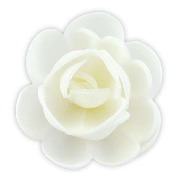 Esspapier Rosen groß weiß 50 mm 36 Stück