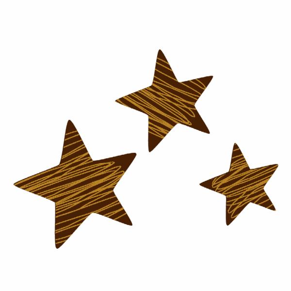 Schokoladendekor Sterne Ophira
