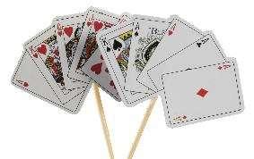 Motivtorten Dekoration Kartenspiel Tortendekoration