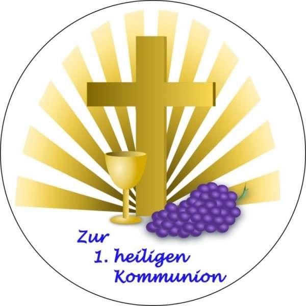 """Zuckeraufleger """"Zur 1. heiligen Kommunion"""" 100mm"""