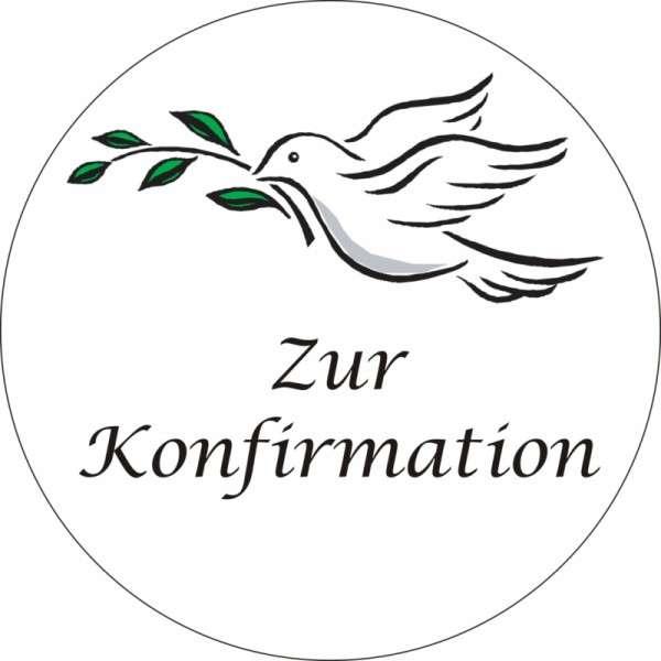"""Zuckeraufleger Taube """"Zur Konfirmation"""" 100mm"""