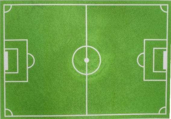 Esspapier Fussball- Feld 30x20cm 12Stück