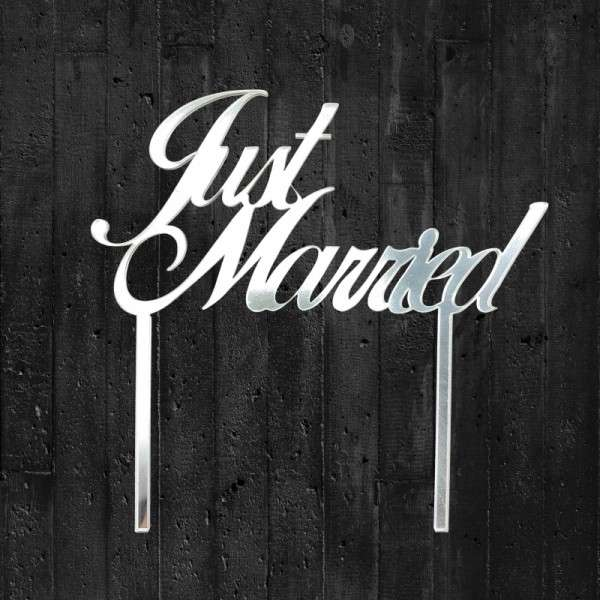 "Cake-Topper ""Just married"" Acryl Spiegel"