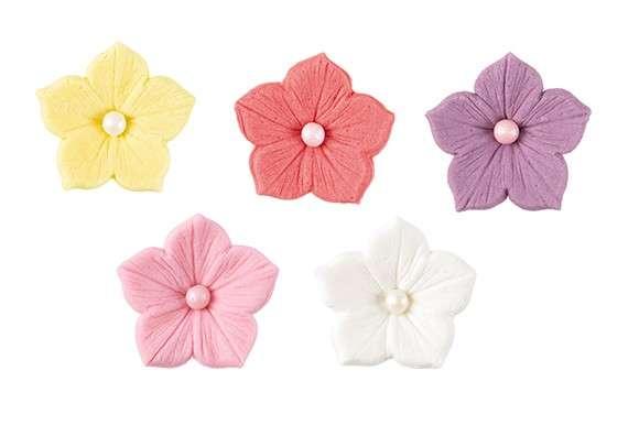 Blumen Pastell mit Perle