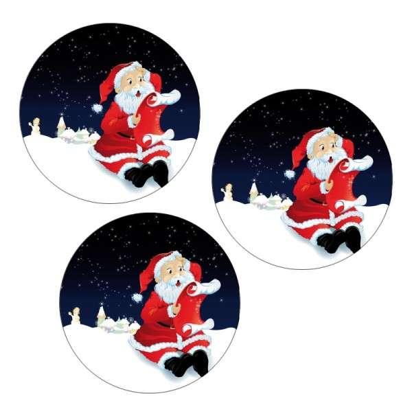 Tortenaufleger Weihnachtsmann mit Wunschzettel 4cm