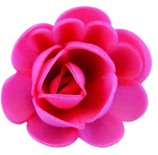 Esspapier Rosen groß fuchsia 50mm 36 Stück