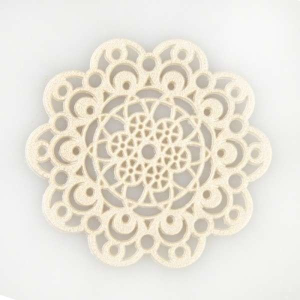 """Sweet lace-pearl perlmutt """"Rosette"""" ca.5cm essbare Spitze - fertig zum Gebrauch"""