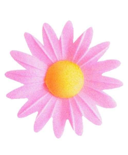 Esspapier Margerite rosa 45mm 100Stck