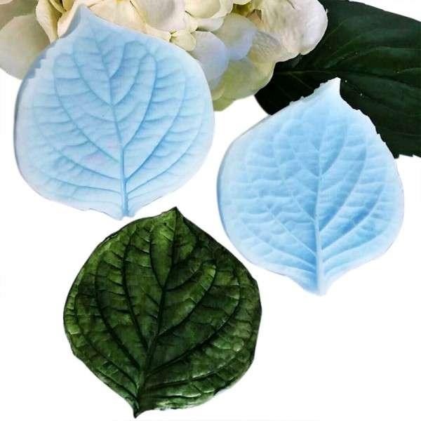 """Veiner """"Hortensie Blatt Herzform"""" ca.7 x 8 cm ( Hydragea,Heart shape leaf)"""
